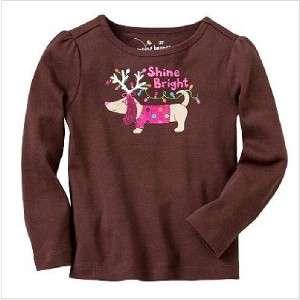 Jumping Beans Girls Tee Shirt Top NWT 3T 3 Brown Dog