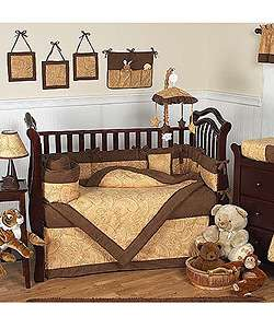 Camel Brown Paisley 12 piece Baby Bedding Set