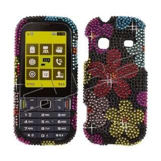 Floral CRYSTAL RHINESTONE DIAMOND BLING COVER CASE 4 Samsung Gravity