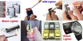 Blue Electronic Lighter USB Rechargeable Battery Cigarette Cigar
