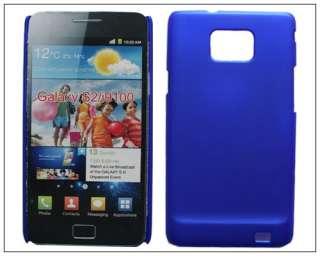 Thin Slim Rubber Hard back case cover F Samsung Galaxy S 2 S2 SII II