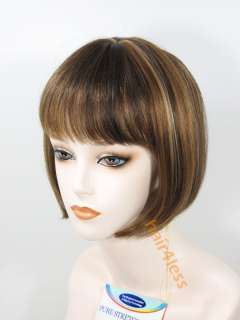 100% Human Hair Bob St. Full Wig Beverly Johnson H 280