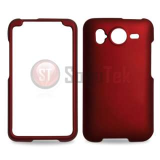 Red Faceplate Hard Case Cover For HTC Inspire 4G Phone