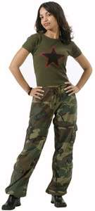 Army Paratrooper CAMO FATIGUES PANTS Clothes Camouflage Hunting M 3386