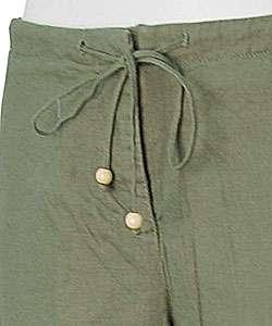 Liz Claiborne Essentials Womens Linen Capris
