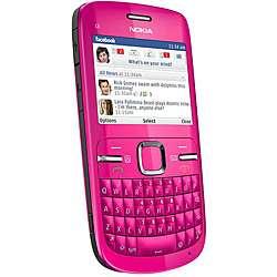 Nokia C3 Unlocked Pink Cell Phone  Overstock