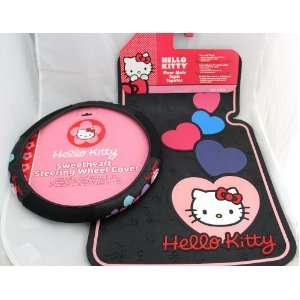 Hello Kitty Car Truck 3 Pcs. Set ; 2 Floor Mats / Wheel