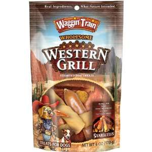 Waggin Train Western Grill Dog Treats, 6 Ounce Package
