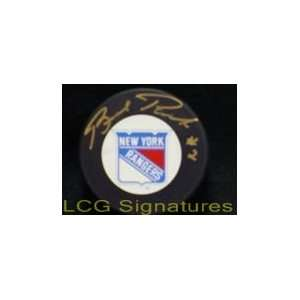 Signed Park, Brad New York Ranger Hockey Puck Sports