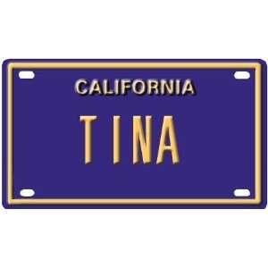 Tina Mini Personalized California License Plate
