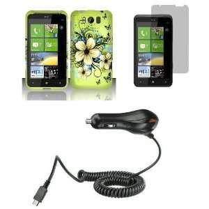 HTC Titan (AT&T) Premium Combo Pack   Green Hibiscus