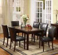 Port 7 piece Faux Marble top Dining Set