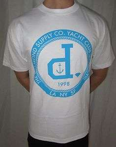 NEW MENS DIAMOND SUPPLY CO. YACHT CLUB UN POLO WHITE PREMIUM T SHIRT