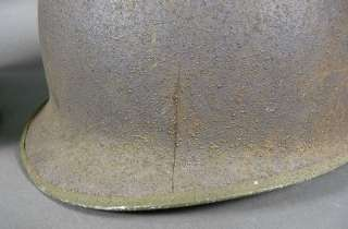 Early US WWII Airborne Paratrooper Helmet & Liner Fixed Bale