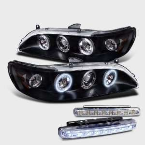 Projector Head Lights+led Bumper Fog Lamp Brand New Pair Automotive