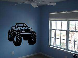 Monster Truck Boys Bedroom Nursery Kids Wall Art Decal