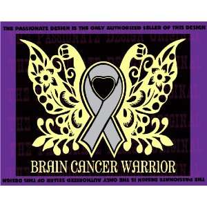 Brain Cancer Butterfly Decal 10 X 12
