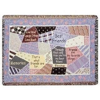 Best Friends Friendship Patchwork Afghan Throw Blanket 40 x 50