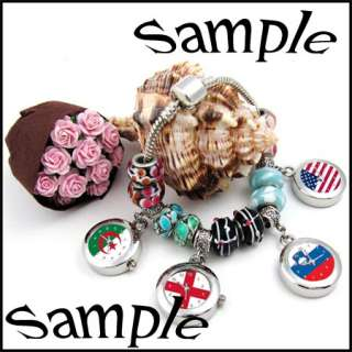 Murano Faceted Crystal Glass European beads Core Fit Charms Bracelet