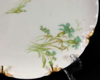 Haviland Limoges Blue Carnation Plate w/Hanger Antique France 7 3/8