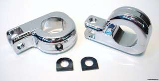 CHROME FOOT PEG MOUNTS FOR HARLEY ENGINE GUARD HIGHWAY