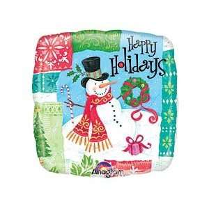 Happy Holidays Snowman 9 Air Filled Cup & Stick Included