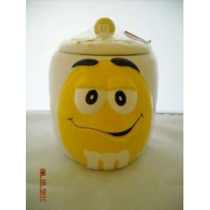 M&Ms Yellow Cookie Or Candy Jar New Sealed Everything