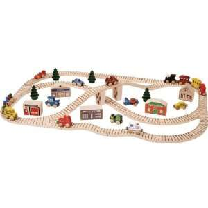 Wooden Town Train Set Toys & Games