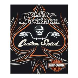 Harley Davidson Custom Speed Fleece Blanket Throw (Light
