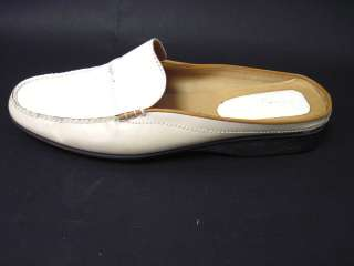 COLE HAAN White Patent Leather Slides Loafers Shoes 9.5