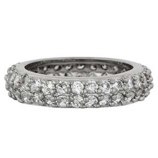 Lady Fashion Jewelry White Clear Topaz Gold GP Jewlery Style Ring Size