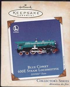 2002 Hallmark Blue Comet 400E Steam Locomotive Lionel Train Series