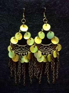 Handcrafted copper Shell tibet Dangle Earrings Ethnic