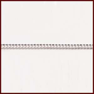 5mm 10K WHITE GOLD 18 CUBAN LINK NECKLACE CHAIN