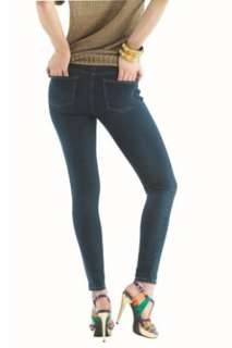Hue Womens Hue Solid Skinny Jeanz Leggings Navy Denim U11880