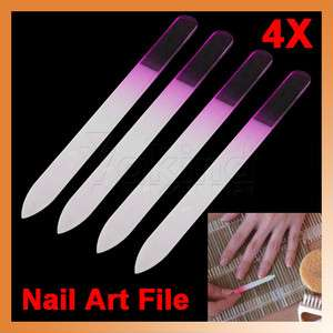 4pcs Pro File Manicure Device Tool Durable Crystal Glass Nail Art