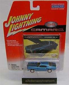 1970 CHEVY CAMARO BLUE JOHNNY LIGHTNING DIECAST 164