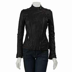 MICHAEL Michael Kors Womens Leather Motorcycle Jacket