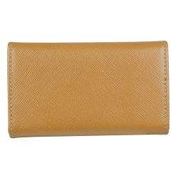 Prada Tan Leather Tri fold Key Case