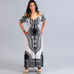 Meetu Magic Womens White Off the Shoulder Maxi Dress  Overstock