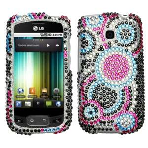 Bubble Crystal Bling Hard Case Cover LG Optimus T P509