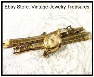 Vintage Ladies Watch ELGIN 10K Gold Plated~Manual Wind~Runs