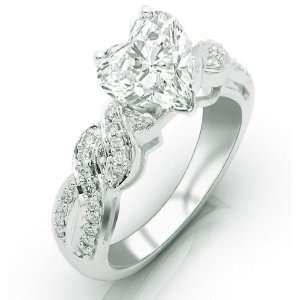 IGI Certified 0.88 Carat Pave Set Round Diamonds Engagement Ring