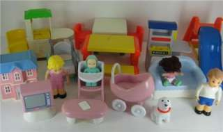 Of Little Tikes Dollhouse Furniture & Dolls Picnic Table Slide Chairs