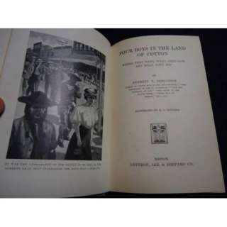 ORIGINAL 1ST ED 1907 BLACK AMERICANA COVER   FOUR BOYS IN THE LAND OF