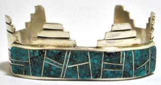 Old Pawn Kingman Turquoise Sterling Silver Cuff Bracelet   VV