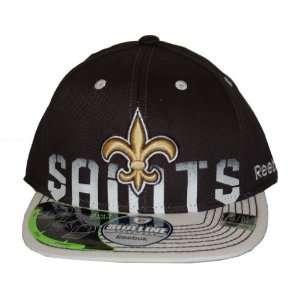NFL New Orleans Saints Reebok Official Sideline Fitted Hat Cap