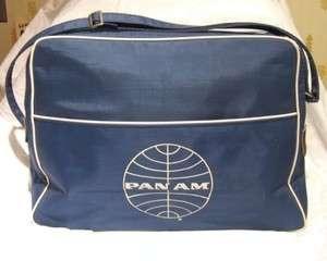 Vintage Pan Am PanAm PAA Canvas Travel Tote Bag