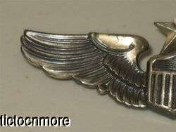 US WWII ARMY AIR FORCE CORPS SENIOR PILOT STERLING 3 WINGS