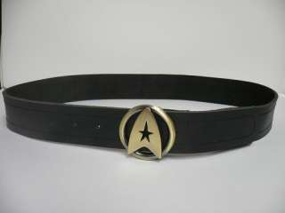 TWOK LEATHER BELT Star Trek Silver Gold Costume Uniform